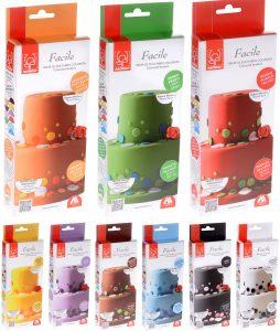 Συσκευασίες κουτί ζαχαρόπαστα σε διάφορα χρώματα