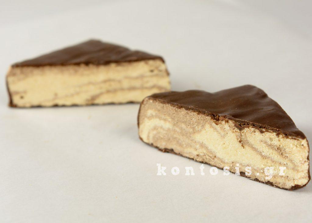Χαλβάς με επικάλυψη σοκολάτα xalvas kakao sokolata