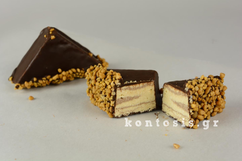 χαλβάς σοκολάτα φιστίκι κροκάν xalvas sokolata fistiki krokan