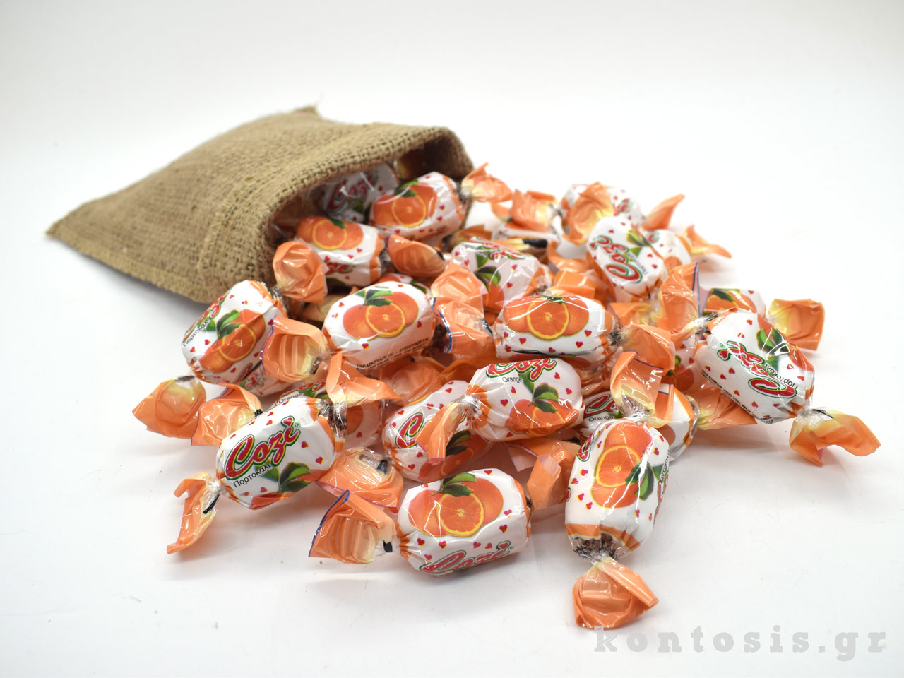 karameles soft zele gelo portokali orange