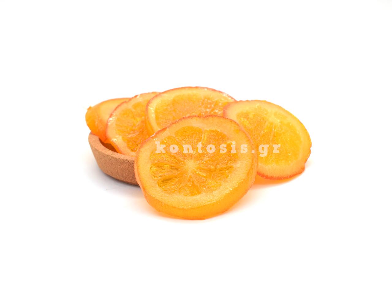 Portokali rodela glace-orange