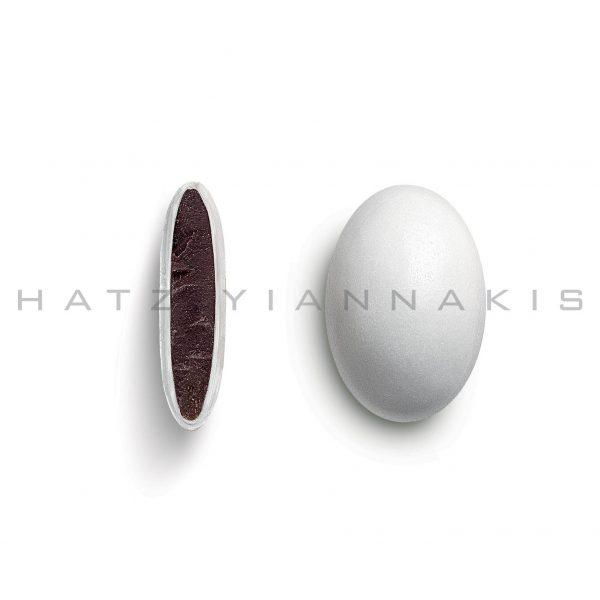 praline with sugar coating-white polished or matte