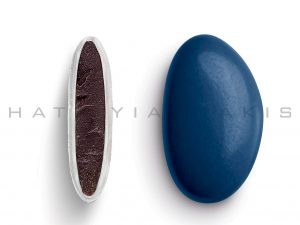 chocolate (70% cocoa) with a thin of sugar coating-blue electric